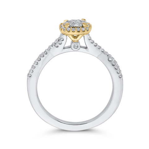 Image of Two Tone Gold and Diamond Ring
