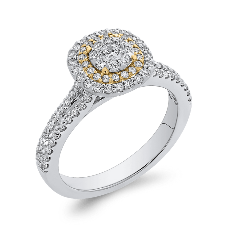 10K Two Tone Gold 5/8 ct Round Diamond Fashion Ring|***Complete Ring