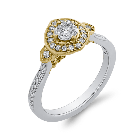 Image of 1/3-ct-Round-Diamond-Fashion-Ring-In-10K-Two-Tone-Gold