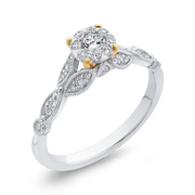 1/2 ct Round Diamond 10K Two Tone Gold Fashion Ring|*** Complete Ring