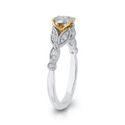 1/2 ct Round Diamond 10K Two Tone Gold Fashion Ring|*** Complete Ring Engagement Ring LUMINOUS