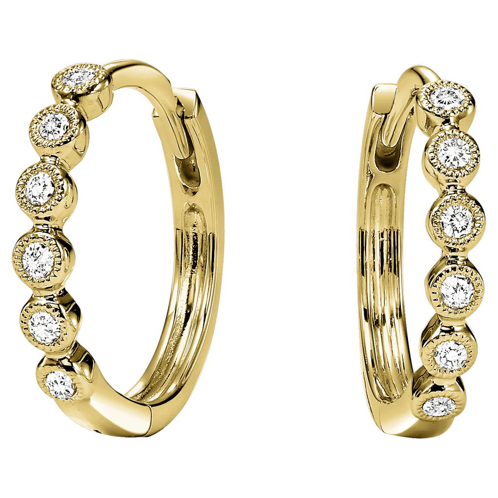 10K Yellow Diamond Mixable Earring 1/7 ctw Earrings BW James Jewelers