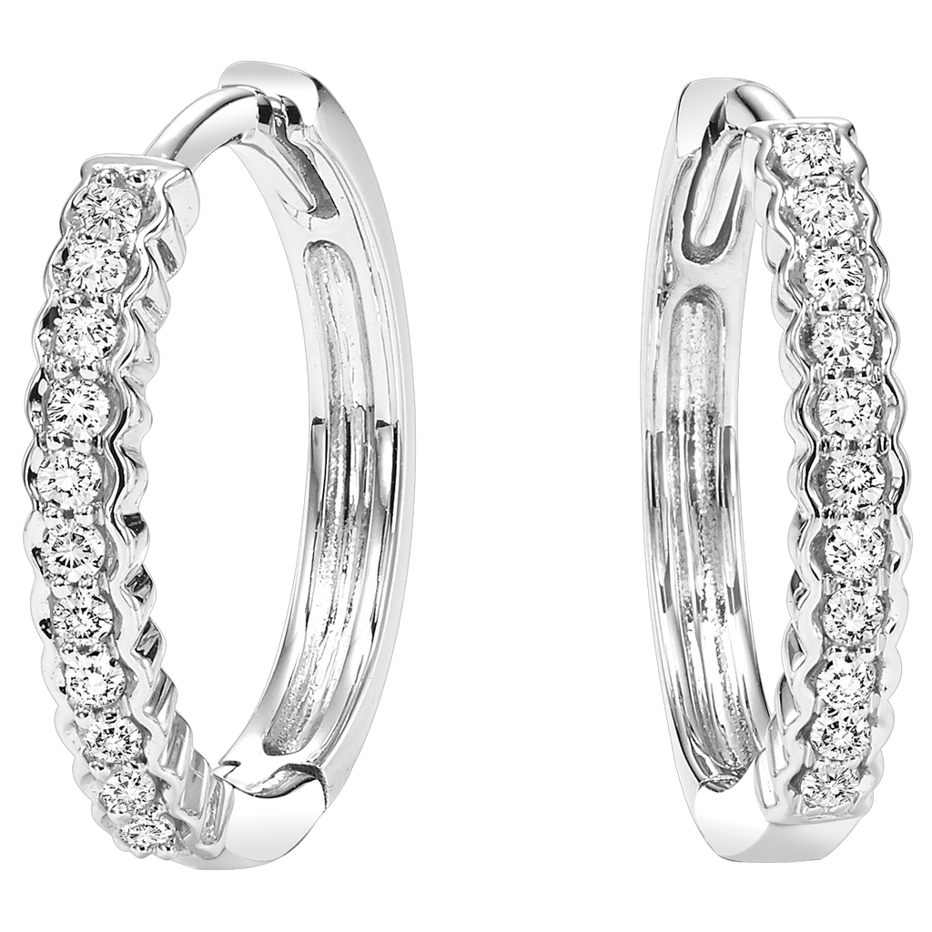 10K Diamond Mixable Earring 1/7 ctw Earrings BW James Jewelers