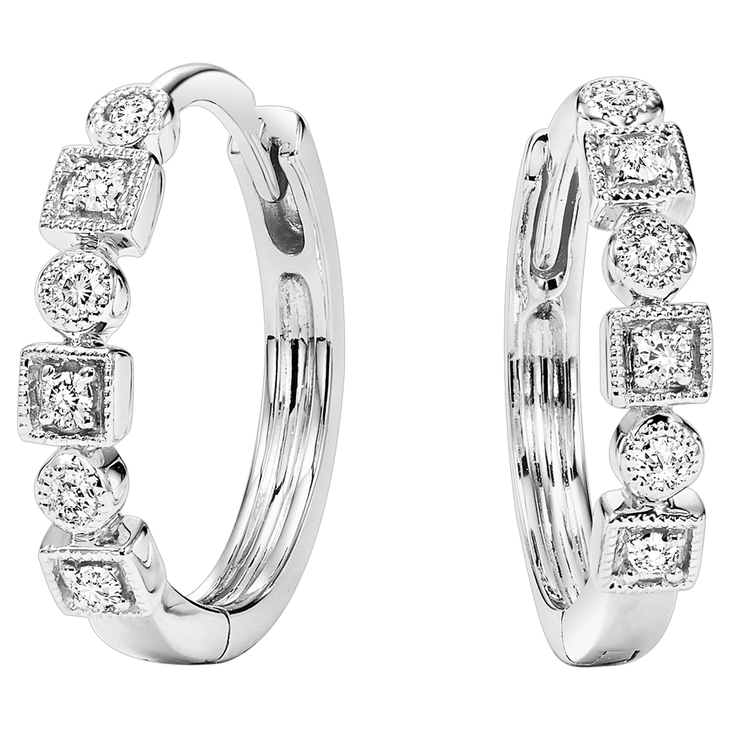 14K Diamond Mixable Earring 1/7 ctw Earrings BW James Jewelers