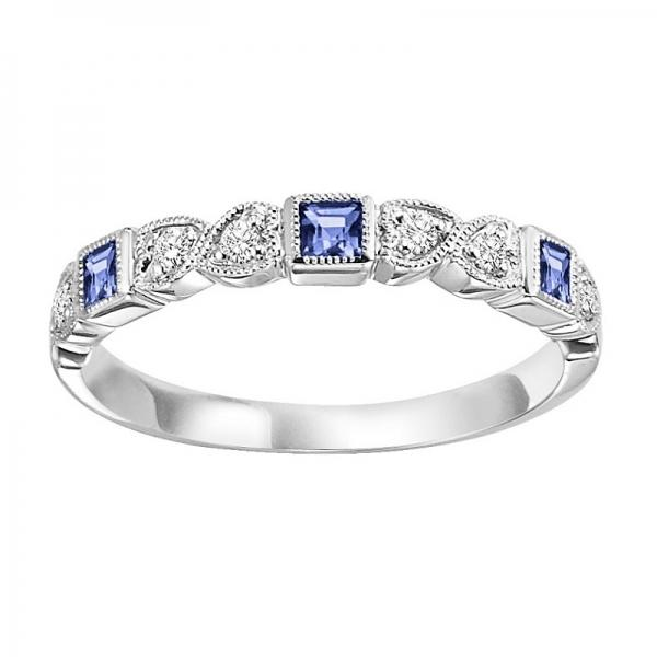 14K Sapphire and Diamond Mixable Ring diamond wedding bands BW James Jewelers