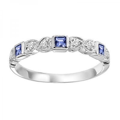14K Sapphire and Diamond Mixable Ring