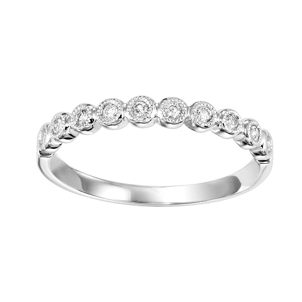 10K White Mixable Ring Ring BW James Jewelers