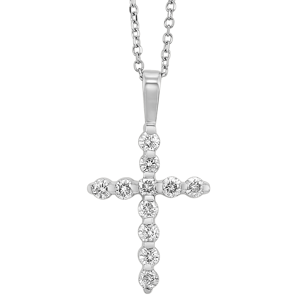 14KTW Diamond Cross Fashion Pendant 1/10Ct Pendant BW James Jewelers