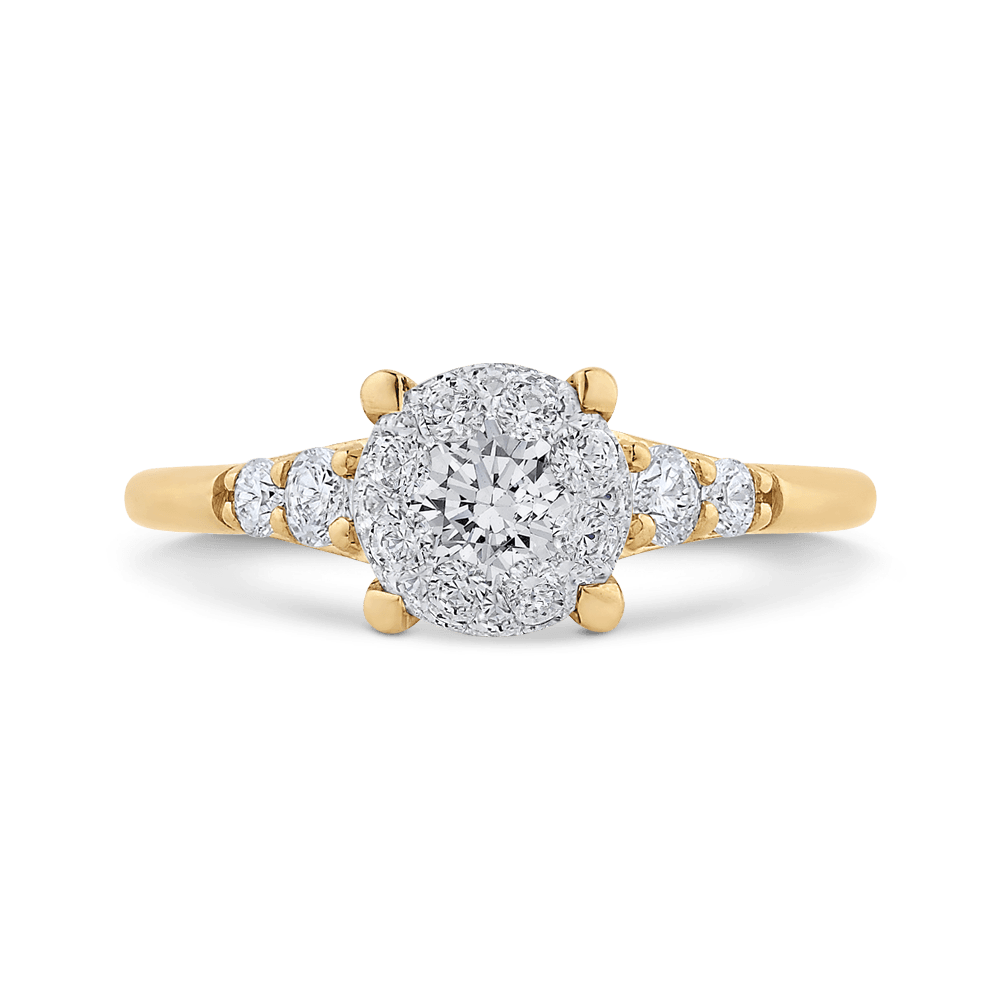 14K Two Tone Gold Round Diamond Ring|***Complete Ring Ring LUMINOUS