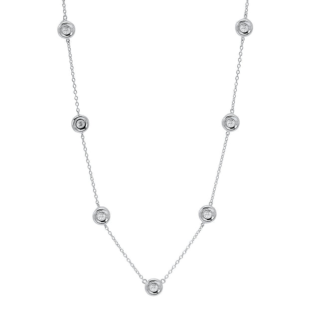 Silver Diamonds By The Yard Necklace Necklace BW James Jewelers