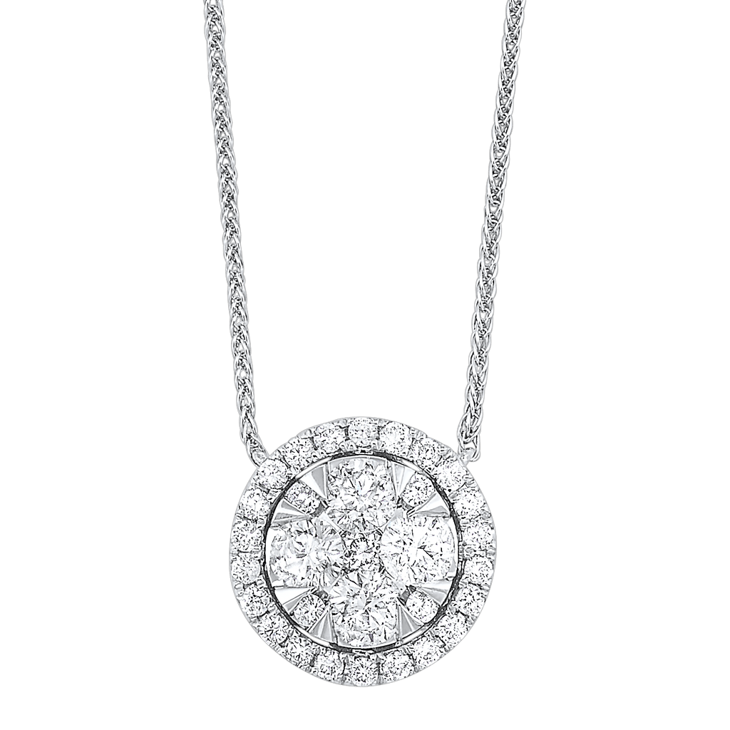 14K Diamond Pendant 1/4 ctw Pendant BW James Jewelers