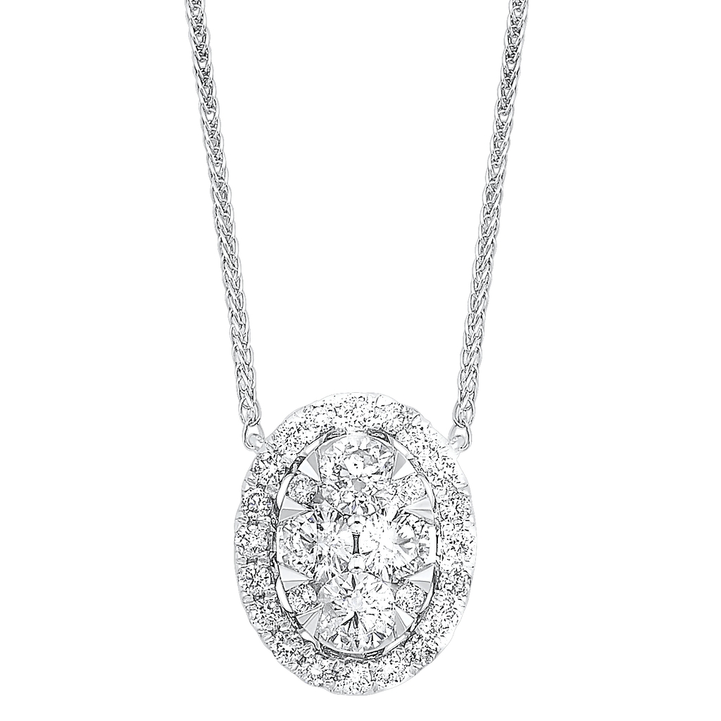 14K Diamond Pendant 1/2 ctw Pendant BW James Jewelers
