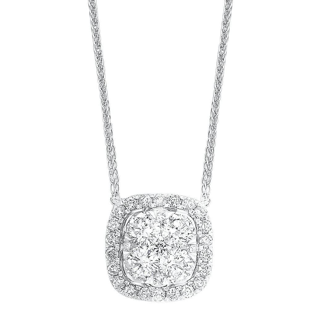 14K Diamond Pendant 1/3 ctw Pendant BW James Jewelers