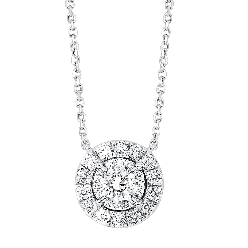 14K Diamond Pendants 1/2 ctw Pendant BW James Jewelers
