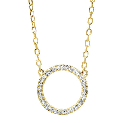 14k Yellow Gold Diamond Pendant Necklace BW James Jewelers