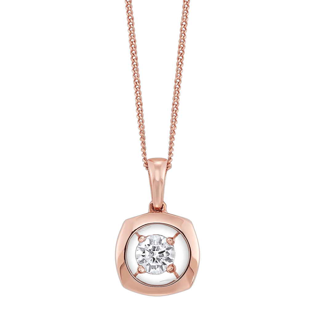Gold Diamond Pendant 1/7ctw Pendant BW James Jewelers