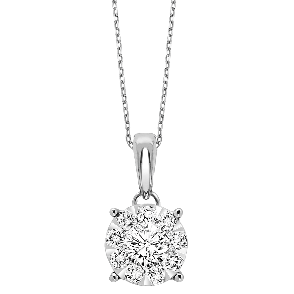14K Diamond Pendant 1/4ctw Pendant BW James Jewelers