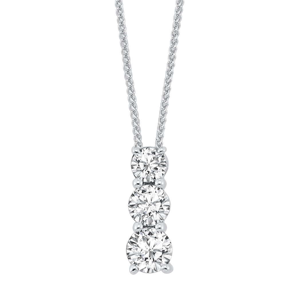 SS Diamond Pendant 1/4Ct Pendant BW James Jewelers