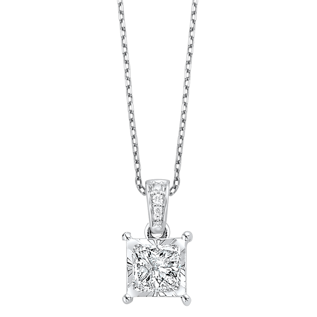 14K Diamond Pendants 1/4 ctw Pendant BW James Jewelers