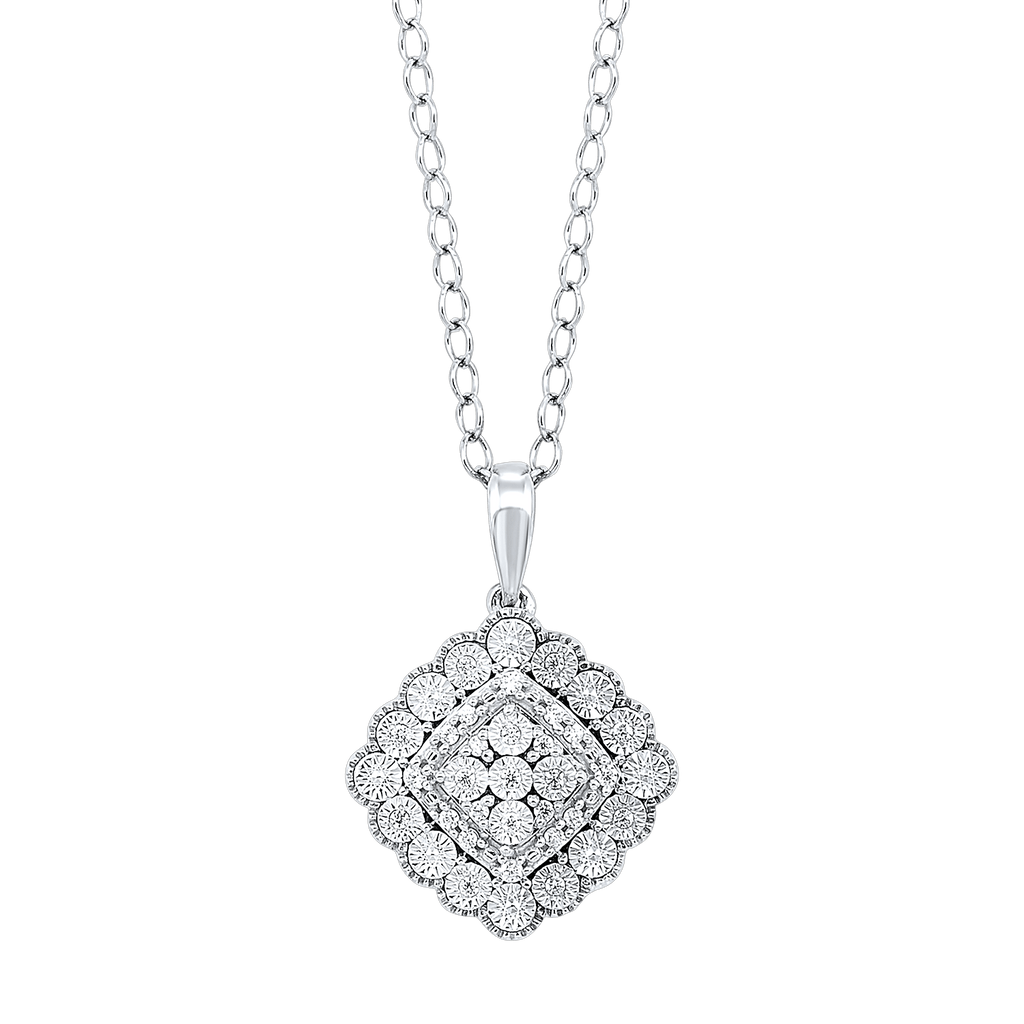 Silver Diamond Pendant Pendant BW James Jewelers