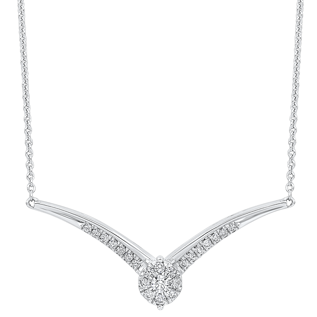 Gold Diamond Necklace 1/4 ctw Necklace BW James Jewelers