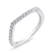 Round Diamond Wedding Band In 14K White Gold Wedding Band PROMEZZA