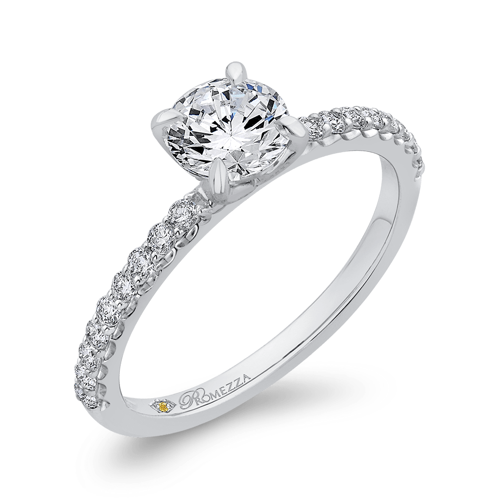 Classic Diamond Four Prong Engagement Ring Engagement Ring BW James Jewelers