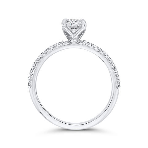 Image of Classic Diamond Four Prong Engagement Ring