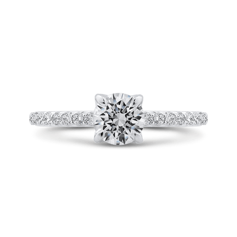Classic Diamond Four Prong Engagement Ring