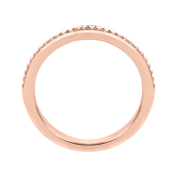 14K Rose Gold Plain Wedding band Wedding Band PROMEZZA