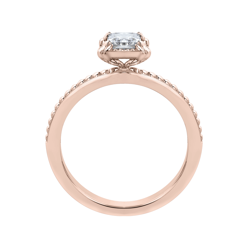 14K Rose Gold Princess Diamond Solitaire Engament Ring|***Complete Ring Engagement Ring PROMEZZA