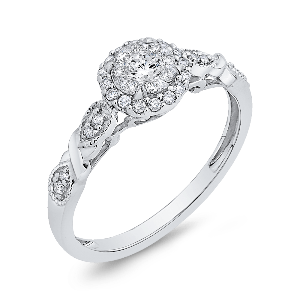 10K White Gold 1/3 Ct Diamond Fashion Ring|***Complete Ring Engagement Ring LUMINOUS