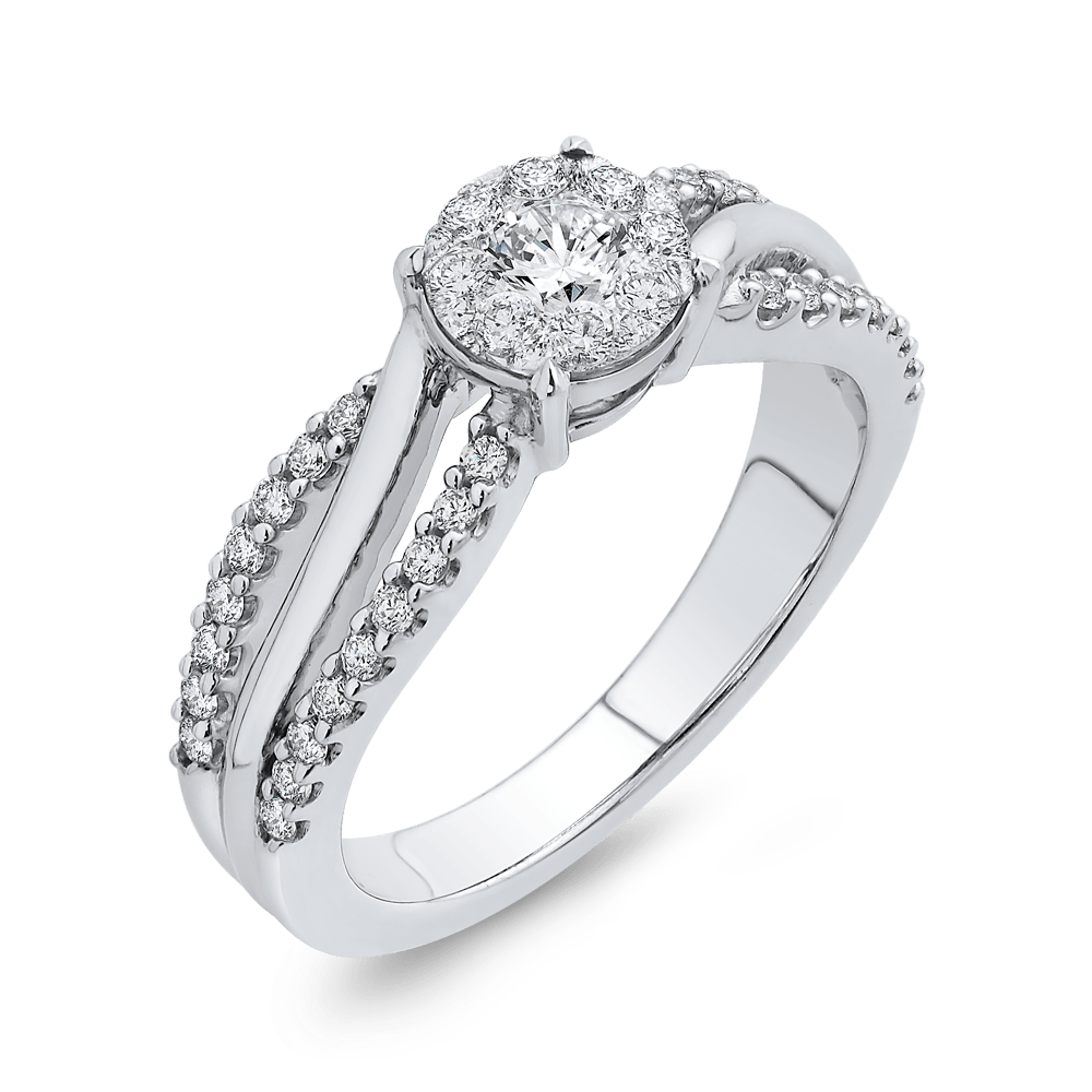 10K White Gold 5/8 Ct Diamond Fashion Ring|***Complete Ring Engagement Ring LUMINOUS