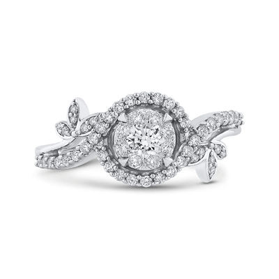10K White Gold 1/2 Ct Diamond Fashion Ring|***Complete Ring