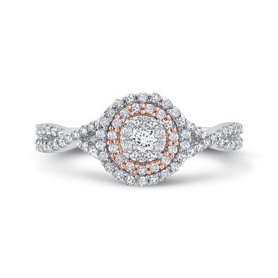 10K White & Rose Gold 1/2 Ct Diamond Fashion Ring|***Complete Ring