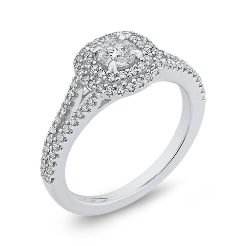 1/2 Round Diamond Engagement Ring