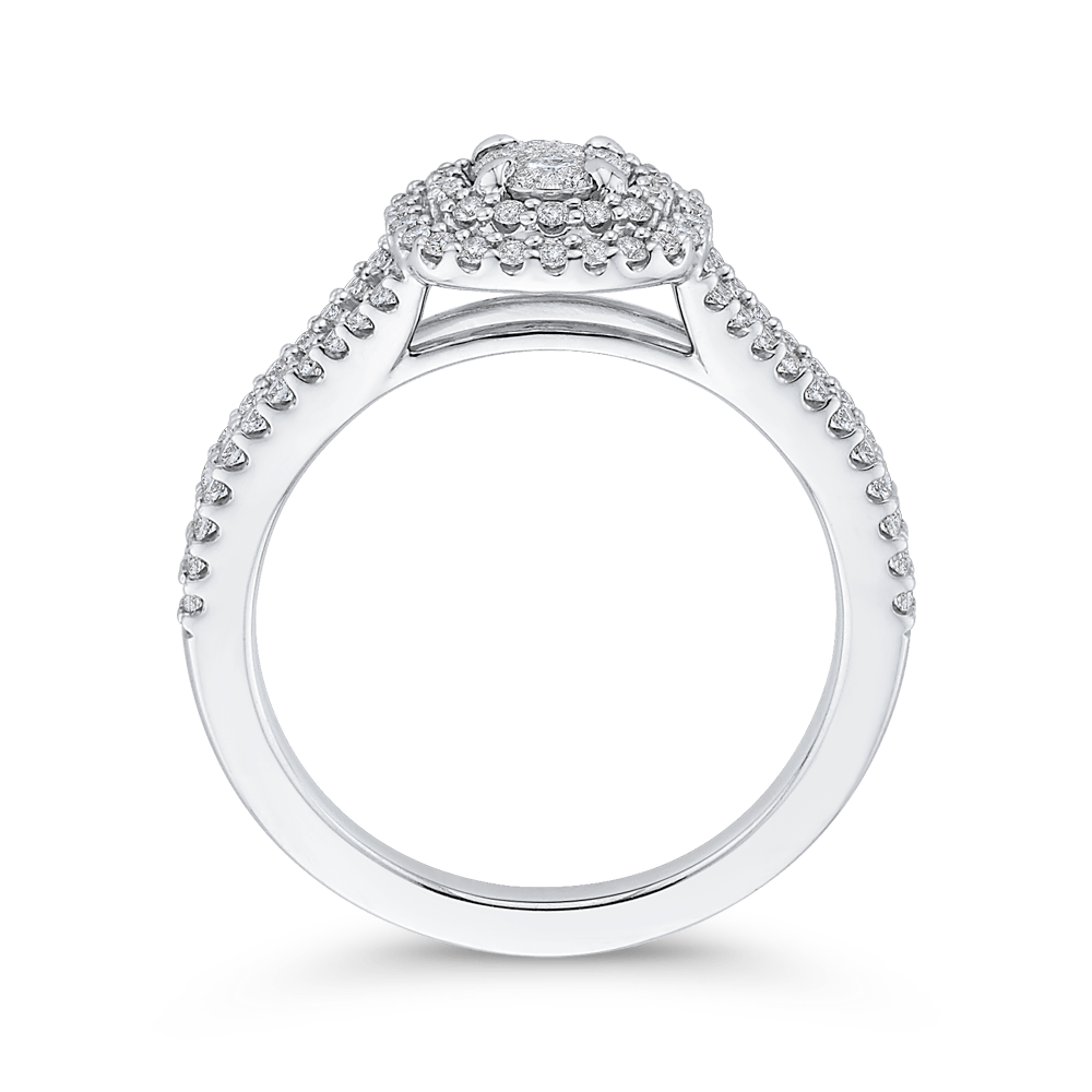 1/2 ct Round Diamond Fashion Ring In 10K White Gold|***Complete Ring Engagement Ring LUMINOUS