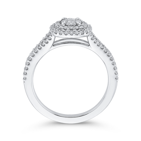 Image of 1/2 Round Diamond Engagement Ring