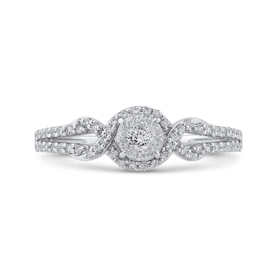 1/3 ct White Diamond Fashion Ring In 10K White Gold|***Complete Ring Engagement Ring LUMINOUS