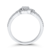 1/3 ct White Diamond Fashion Ring In 10K White Gold|***Complete Ring