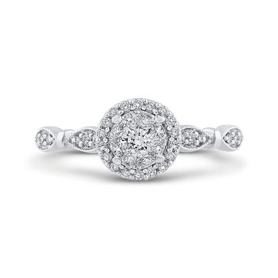 1/3 ct White Diamond 10K White Gold Fashion Ring|***Complete Ring Engagement Ring LUMINOUS