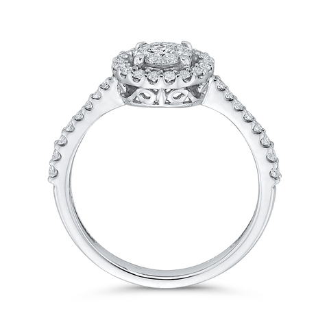 Image of 1/2ctw Double Halo Engagement Ring