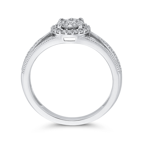 Image of Double Halo Engagement Ring