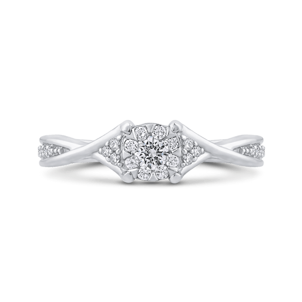 10K White Gold 1/3 ct Round Diamond Fashion Ring|***Complete Ring Engagement Ring LUMINOUS