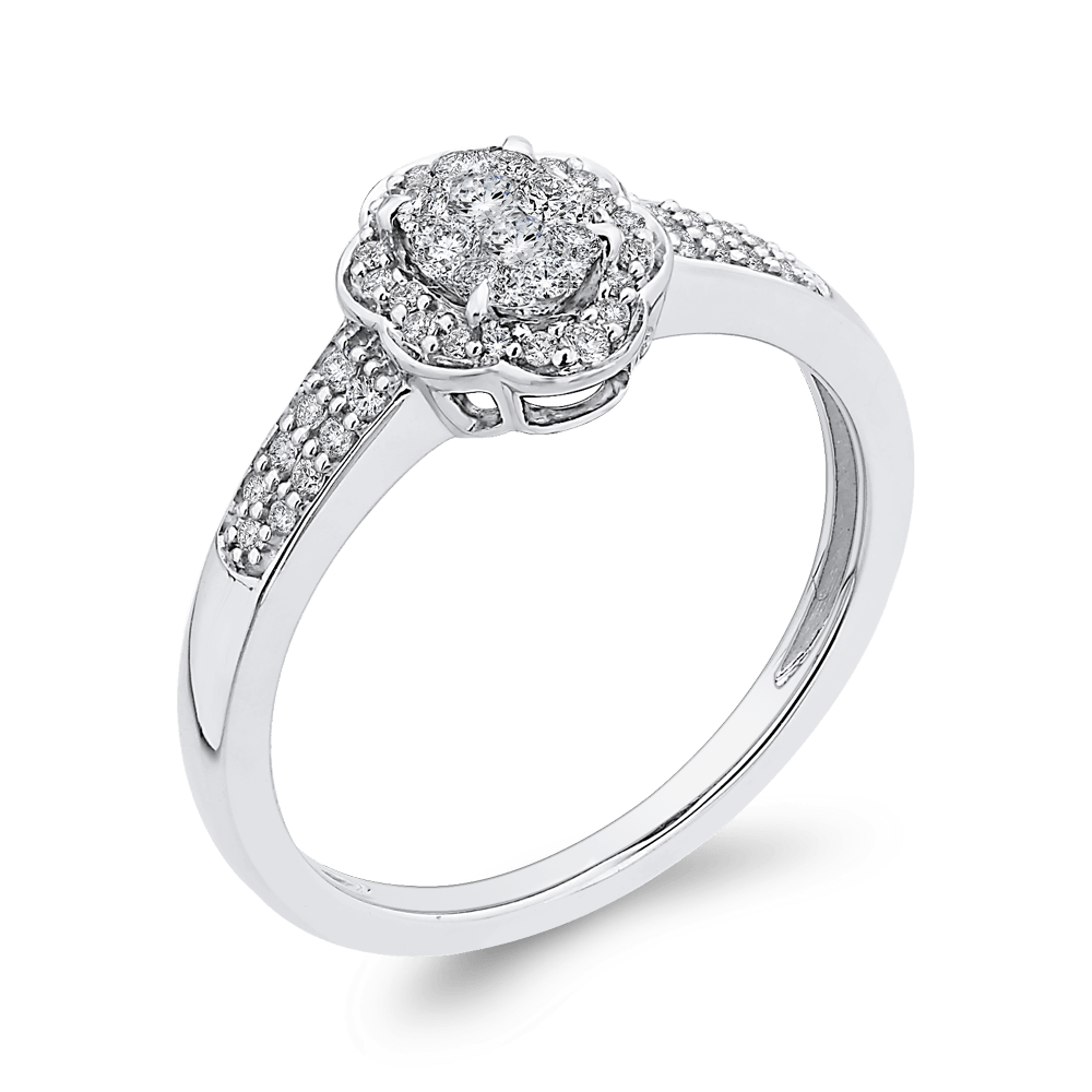 1/3-ct-Round-Diamond-Cluster-Fashion-Ring-In-10K-White-Gold