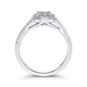 1/3 ct Round Diamond 10K White Gold Fashion Ring|***Complete Ring Engagement Ring LUMINOUS