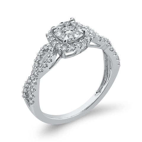 1/2ctw Round Diamond Engagement Ring