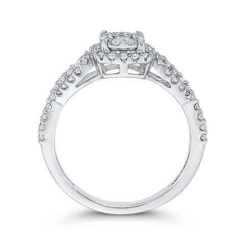 Image of 1/2ctw Round Diamond Engagement Ring