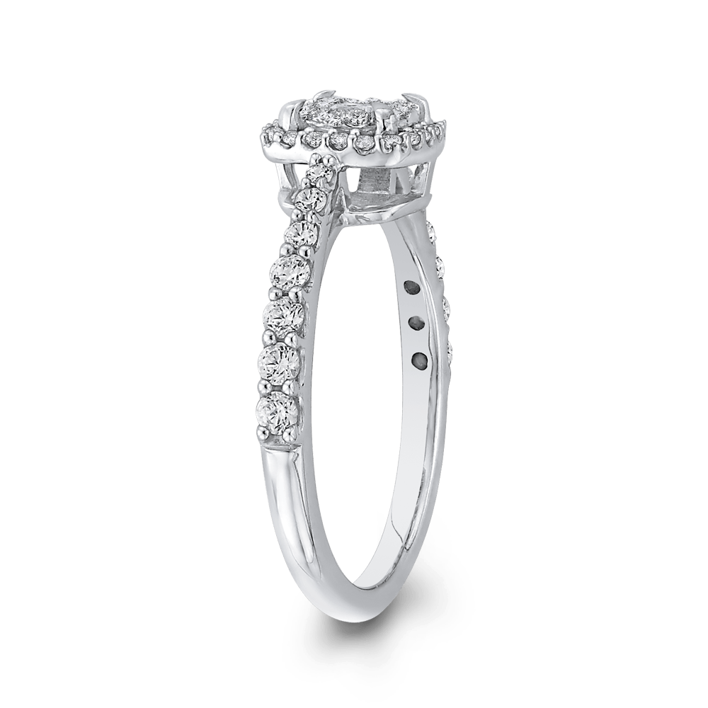 10K White Gold 5/8 ct White Diamond Fashion Ring|***Complete Ring Engagement Ring LUMINOUS