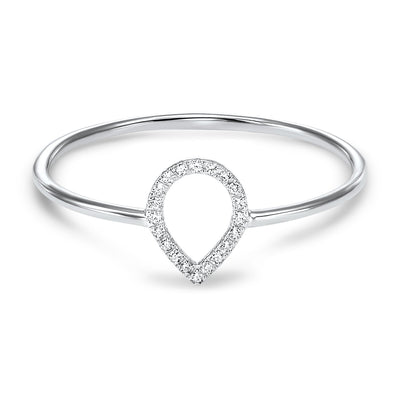 14K Pear Shape Diamond Ring